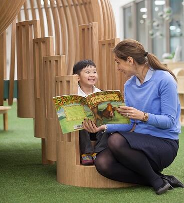 EtonHouse Blog - Give the child the gift of your time and a simple shared moment of reading a book